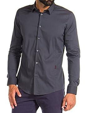 Carrera Jeans - Camisa T240A1294A para hombre, tejido popelín, ajustado, manga larga