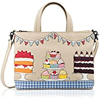 75ca534bd7ec Yoshi Goodness Bake Real Leather Grab Bag in Cream