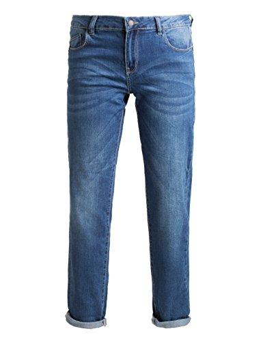 Fiorella Rubino: Jeans donna skinny push up délavé. Blu, taglia 45. Plus size