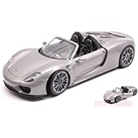 WELLY WE18051CS PORSCHE 918 SPYDER SILVER 1:18 MODELLINO DIE CAST MODEL