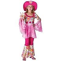 f51126649bcb Fancy Me Ragazze Anni 60 Anni  70 Diva Hippy Festival Woodstock Costume da  Carnevale Vestito