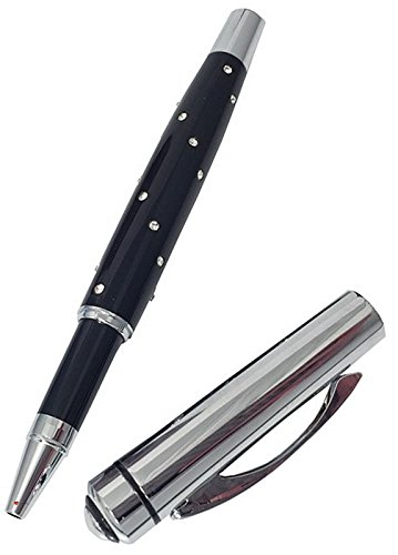 I Luv LTD Roller Ball Pen with Crystal Design Iluv Crystal