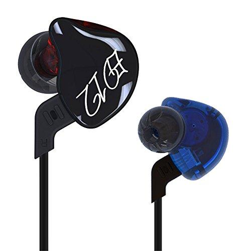 KZ ED12Custom Style Kopfhörer Abnehmbare Kabel in Ohr Audio Monitore geräuschisolierend HiFi Musik Sport In-Ear mit Mikrofon für Musik & Hands-Free Telefonate