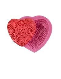 Auket Coeur de dentelle Fondant Savon SUGARCRAFT Gâteau décoration de biscuits de moule de silicone # 140