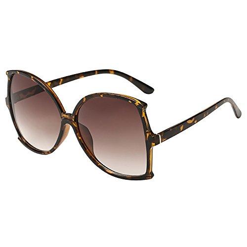 WooCo Beförderung! Big Frame Sonnenbrillen für Damen Herren, Unisex Vintage unregelmäßige Form...
