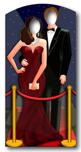 Roten Teppich/ Hollywood Paar Stand In - LEBENSGROSSE POSE MIT PAPPFIGUREN / STEHPLATZINHABER / AUFSTELLER