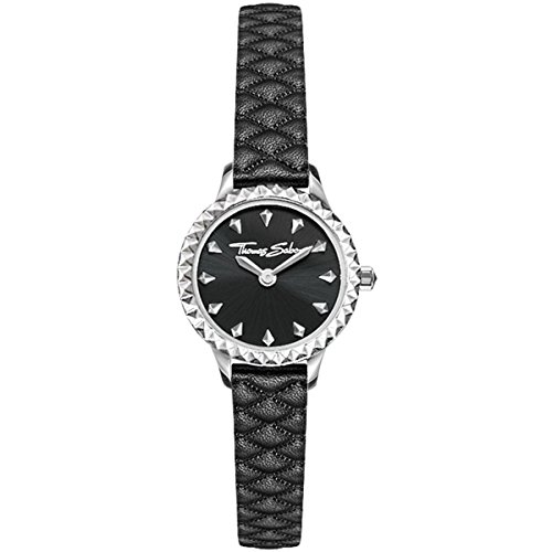 Thomas Sabo Donna - Orologio Da Donna Rebel at heart Miniature nero Analogo Quarz WA0328-203-203-19 mm