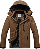 TACVASEN Fleece Jackets Mens Full Zip Waterproof Sports Jacket Snowboarding Travel...