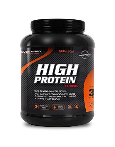 SRS Muscle - High Protein XL, 1.000 g, Schoko | 3+1 Mehrkomponentenprotein | optimiert auf biologische Wertigkeit | aspartamfrei | laktosereduziert | deutsche Premiumqualität (Xl-protein)