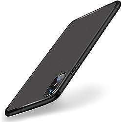 Funda iPhone X, Ubegood Cover iPhone X TPU Silicona Protectora Caso Ultra Slim Anti-Rasguño Bumper Cubierta Protectora Funda para Apple iPhone X / iPhone 10 Cover Case - Negro