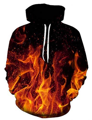 ALISISTER 3D Gedruckt Kapuzenpullover für Männer Damen Herbst Winter Neuheit Hoodie Pullover Sweatshirt mit Tasche L/XL