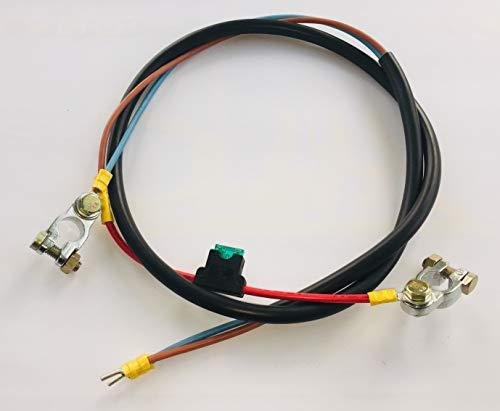Anschluß-Kabel Laderegler Batterie 2x6mm² mit 30A Sicherung ... -