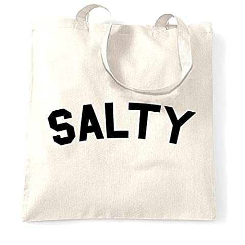 Salty Mittel Rude Slogan Rindfleisch Witz Lustig Cool Trendy Mode Tragetasche