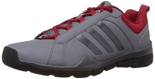 adidas Men's Outrider 1.0 Grey, Black and Red Multisport Training Shoes - 9 UK  available at amazon for Rs.3299