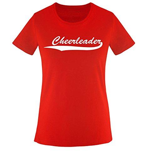 Comedy Shirts CHEERLEADER - Rot - WOMEN T-SHIRT by DoubleM Gr. L