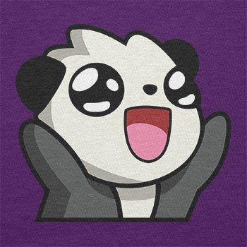 TEXLAB - Panda Face - Herren T-Shirt Violett