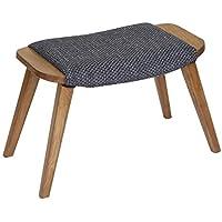 Preisvergleich für YYdy-Polsterhocker Holz Ottoman Sofa Mate White Oak Fußstütze Freizeit Fußbank Ändern Schuhe Hocker Stuhl Geeignet für Wohnzimmer Schlafzimmer Holz Farbe (Farbe : Gray)