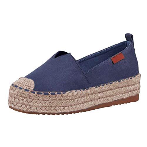 NMERWT Damen Schuhe Pumps Loafer Frauen Sommer Mode Sandalen Damen Lazy Shoes Einfarbig Lässig Dickbesohlte Flats Elastic Band Single Shoes