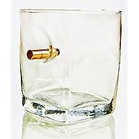 Geschenkidee Trinkglas Whiskyglas Glasbecher WhiskyGläser mit realem Geschoß Projektil Kaliber Typ FMJ 7,85/.308.