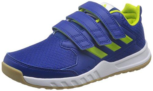 adidas Unisex-Kinder Fortagym Fitnessschuhe, Blau (Collegiate Royal/Semi Solar Yellow/Footwear White), 35 EU