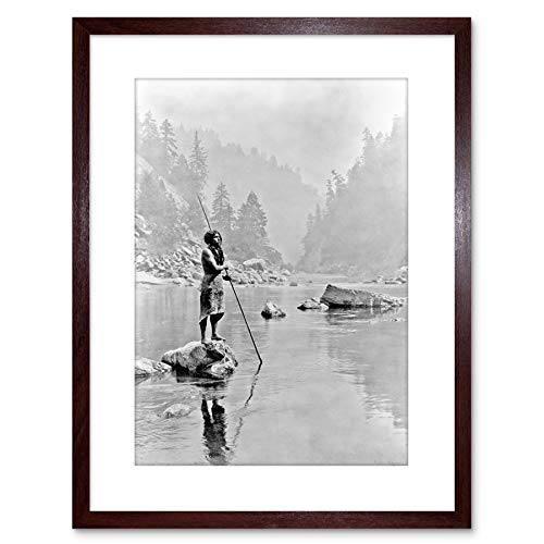 Photo Vintage Curtis Smoky Day Sugar Bowl HUPA Indian Framed Art Print F97X10990 Brown Sugar Bowl