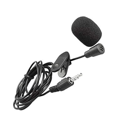 Lorsoul Tragbare Mini-Compact Tie-Revers-Clip 3.5mm Mikrofon Audio Mic Multifunktions-Lautsprecher -
