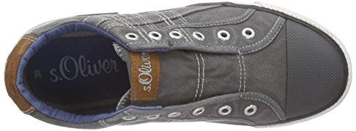s.Oliver Unisex-Kinder 53203 Low-Top Grau (GREY 200)