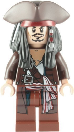 LEGO Pirates of the Caribbean: Captain Jack Sparrow mit Tricorne Minifiguren (Tricorne Pirate)