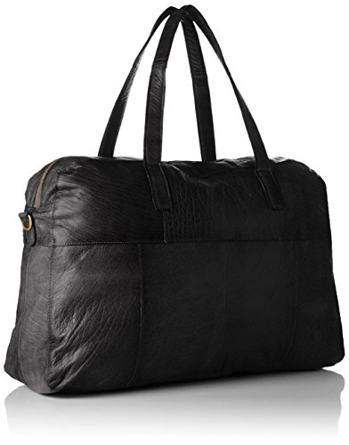 PIECES - Pckimono Leather Weekend Bag, Borsette da polso Donna Nero (Black)