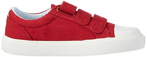 Clarks Club Halcy, Scarpe da Ginnastica Basse Bambino Rosso (Red)