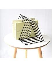 Di Grazia 9 Slot Magazine Book Rack Desktop File Sorter Storage for Home Office(Black)