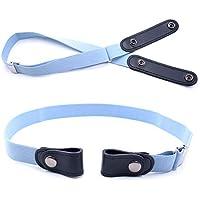 Desconocido JIER Cinturón elástico sin Hebillas para Mujer, cinturón elástico Invisible para Pantalones Vaqueros,Vestidos,Hombres Jeans Cinturones Invisibles de la Ajustable