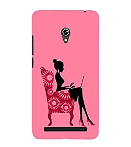 Fiobs Designer Back Case Cover for Asus Zenfone 6 A600CG (Fashion Girl Girly Pink)