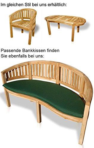 KMH 3-sitzer Bananenbank/Affenbank aus massivem Teakholz