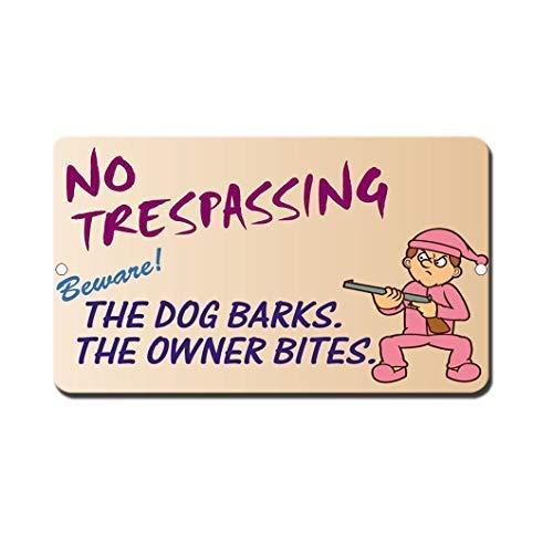 Tarfy Dog Barks Owner Bites Pic Retro Weinlese-Blechschild-Dekorations-Bar-Kaffee-Café-Nachmittagstee-Grill-Geschäft (Pics Künstlerisch)