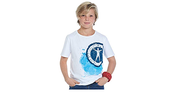 Studio 100 T-Shirt et Bandana Campus 12gar/çon Blanc Taille 164