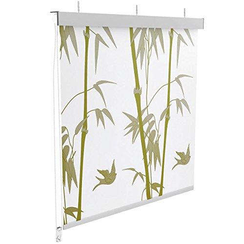 Homelux Duschrollo Halbkassette 140 x 200 cm Bambus