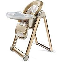 HYRL Baby Hochstuhl Baby Esstisch Stuhl Kind Essen Sitz Multifunktions Klapp Tragbare Baby Tisch Stuhl Lernen Stuhl,Champagne