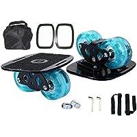 QDCAO Freeline Drift Skates Freeline Patines de desviación PU Flash Wheel Freeline Deportes Aluminum Alloy Pedal