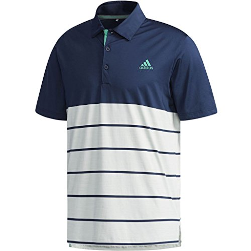 adidas Golf Herren Ultimate365 Heather Polo-Hemd - Marine/Grün Logo - L (Shirt Logo Golf)