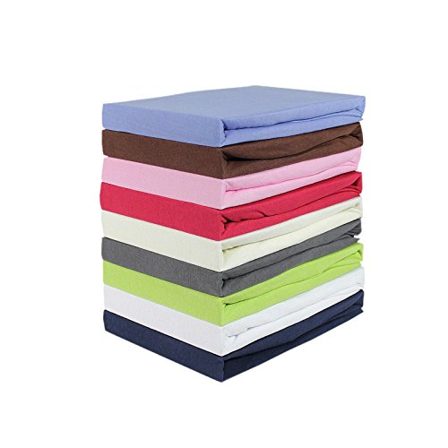 Bettwäscheträume Jersey Spannbettlaken 140×200 cm aus 100% Baumwolle 130gr. Qualität Spannbetttuch Laken robust & pflegeleicht