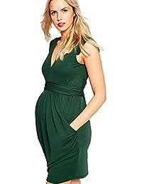 Binhee Moda Mujer Embarazada Verano Sin Mangas Vestidos De Maternidad
