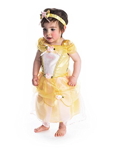 Disney Baby DCPRBE012 - Princess Dress, Belle, (Babys Kostüm Für Disney Belle)