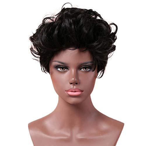GaLon Perücke Frau Hochtemperaturseide Kurze Flip Hair Manschette Cosplay Frau Perücke Party Free Perücke (Flip Perücke Kostüm)