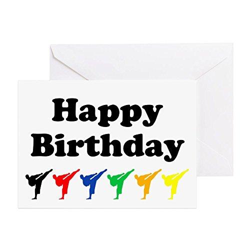 CafePress - Karate - Grußkarte, Notizkarte, Geburtstagskarte, innen blanko, glänzend