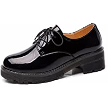 Moonwalker Zapatos con Cordones Mujer Oxford de Cuero