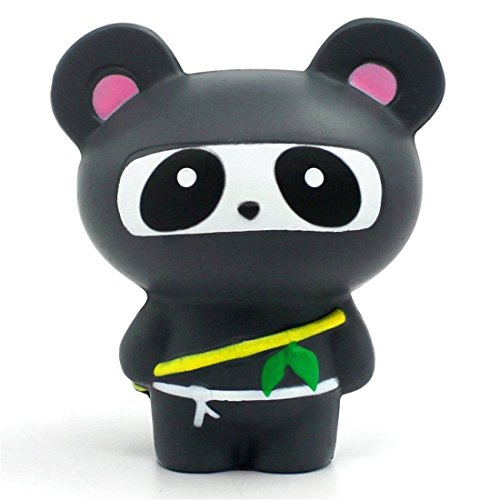 Yeehoo squishy morbido slow rising giocattolo grande panda antistress giocattolo(nero)