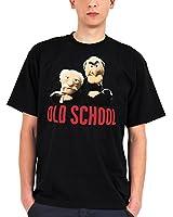 Muppets T-Shirt Grandmasters Statler & Waldorf Old School in schwarz