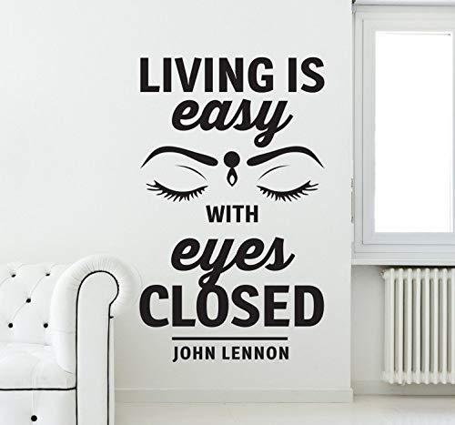 Wandtattoo Kinderzimmer John Lennon Living ist Easy Beatles Wandaufkleber für Wohnzimmer Schlafzimmer