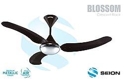 Seion Ceiling Fan Blossom Cresent Black 1200 mm